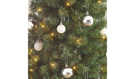 asda pop up christmas tree 5ft pop up pre lit led tree silver and white baubles shop george