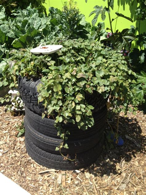Tires As Planters by Tires Recycled As Planters Reducing Waste