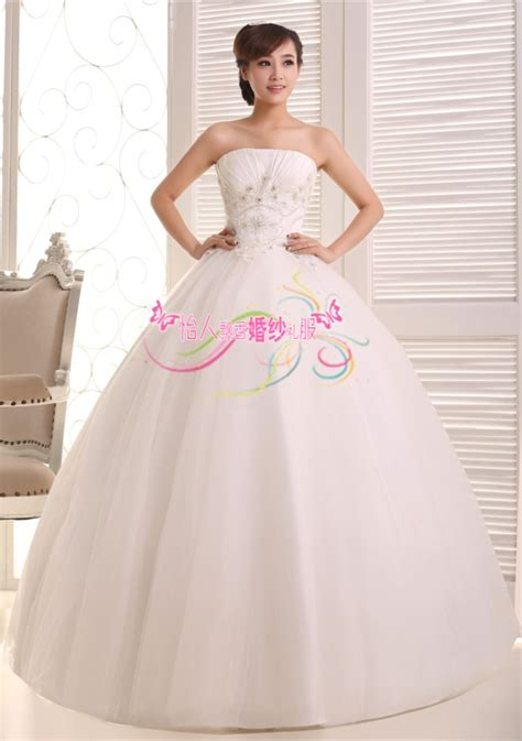 jual wedding dress gaun pengantin payet dada korea 2015