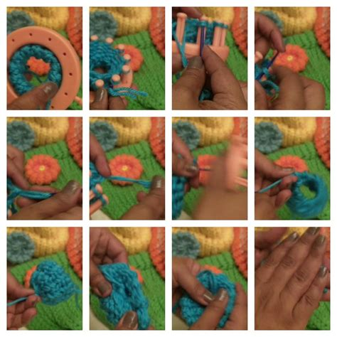 how to use a knitting loom loomflowercollage3 loomahat