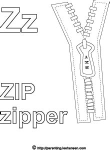 coloring book zip letter z alphabet coloring activity zip zipper