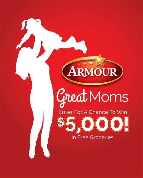 Armour Great Moms Sweepstakes - armour launches great moms sweepstakes