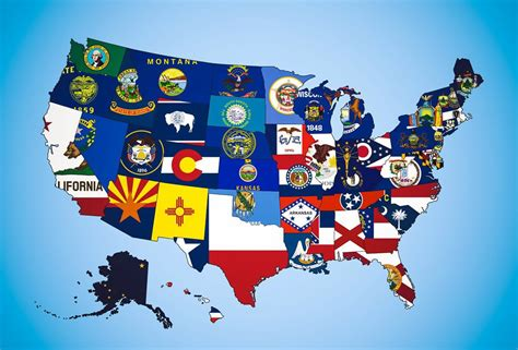 north america map with flags large states flag map of the usa usa united states of