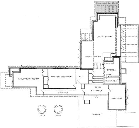 Pope Leighey House Floor Plan | frank lloyd wright