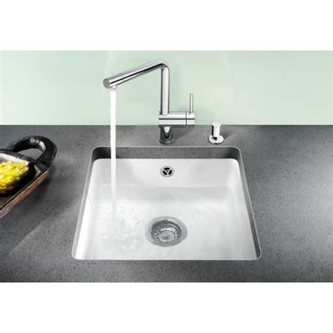 Corner Kitchen Sink Cabinets blanco subline 500 u ceramic undermount sink crystal white