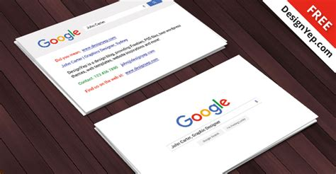 google design cards free google interface business card psd template designyep
