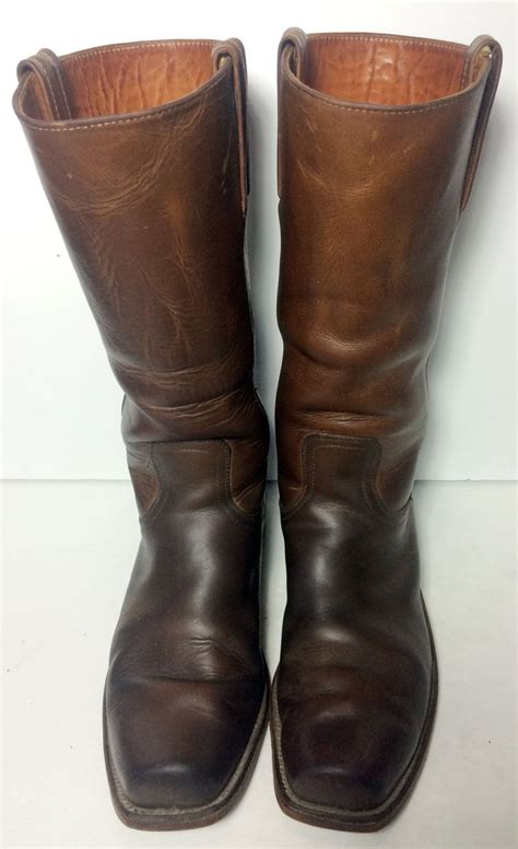 frye cavalry boots frye vintage brown leather motorcycle cavalry biker