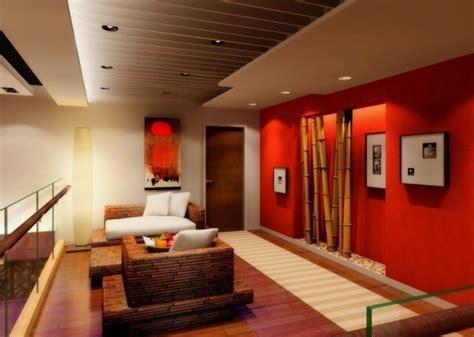 Badezimmer Deko Weinrot by Wohnzimmer Deko Bambus Dekoration Wand Rot Knall Farben