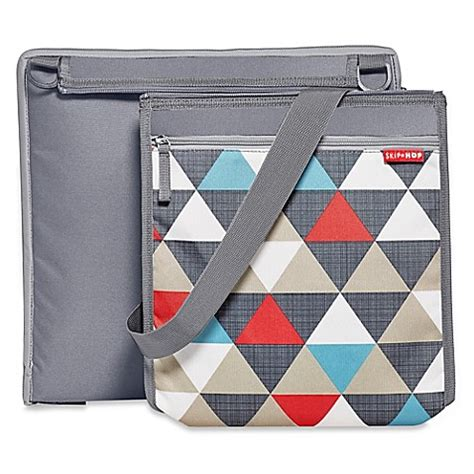 Cooler Bag Skiphop skip hop 174 central park outdoor blanket cooler bag in triangles print bed bath beyond
