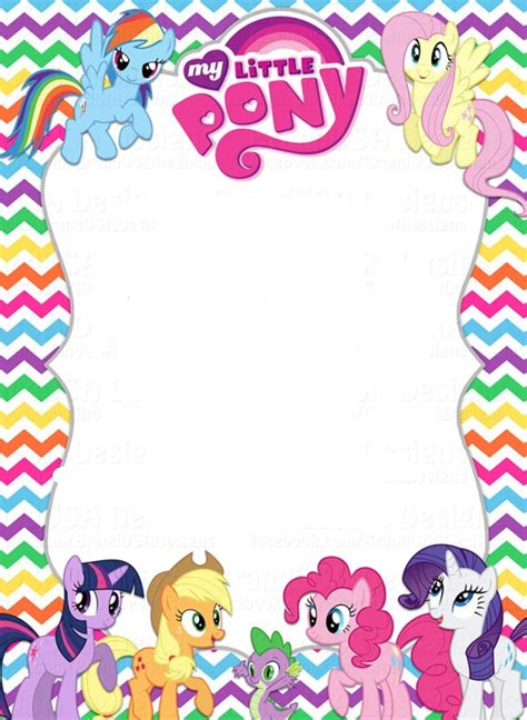 my little pony invitation template kaydens 5th birthday