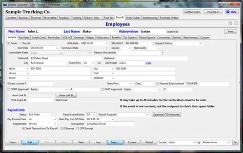Trucking Payroll Software For Drivers Employees Axon Software Truck Driver Payroll Template