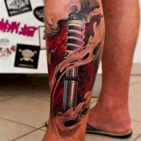 3d tattoo on black skin 32 beautiful 3d leg tattoos