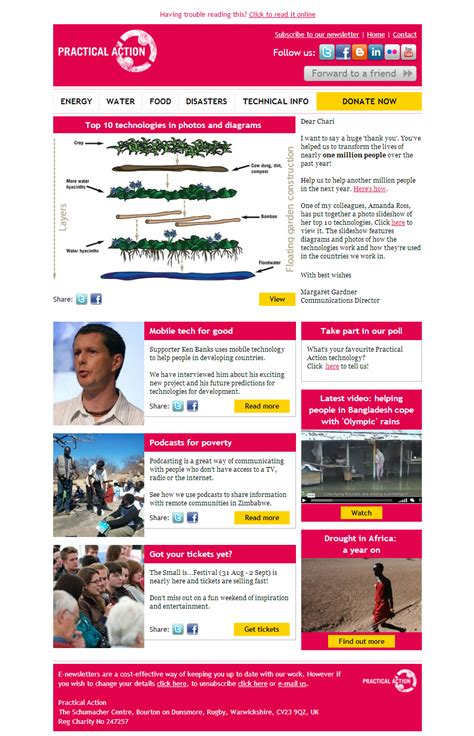 charity newsletter practical top 10 technologies in pictures