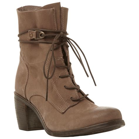 steve madden rambow leather ankle boots in brown lyst