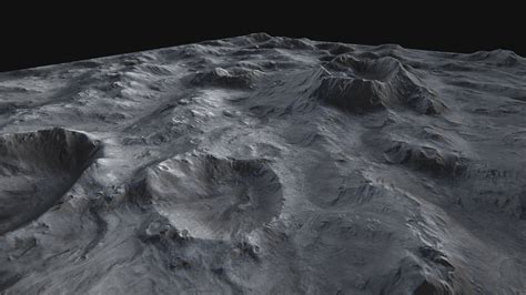 Moon Surface 3d Model