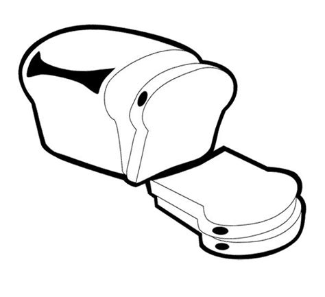 free coloring pages of slice of bread