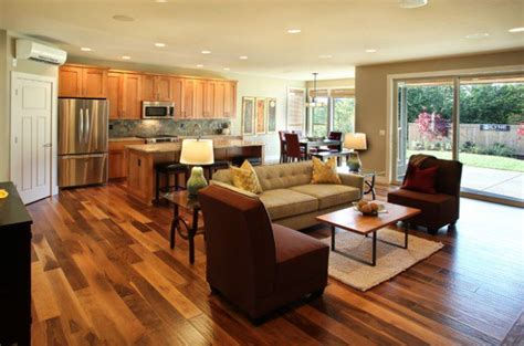 17 Open Concept Kitchen Living Room Design Ideas Style Kitchen And Living Room Flooring Ideas