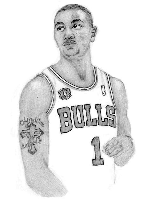 coloring pages of derrick rose derrick rose by kiyana smith