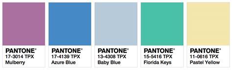 Pantone Color Palette 2017 by Ispo Color Palette Spring Summer 2018 Fashion Trendsetter