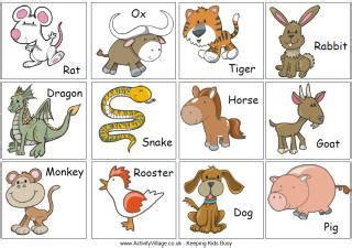new year animal sequencing new year