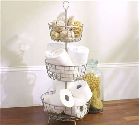 Tiered Bathroom Storage Bathroom Storage In Tiered Baskets Home