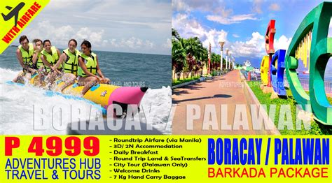 boracay or palawan barkada tour package palawan tour package with airfare assistance el nido