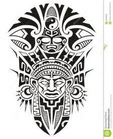 ancient tribal mask vector illustration stock vector