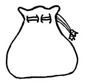 Empty Money Sack Coloring Page Pages sketch template