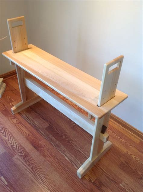 loom bench weaving bench with adjustable rocking seat by cracknpop