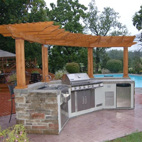 outdoor kitchen island casual cottage windhaven grill island project