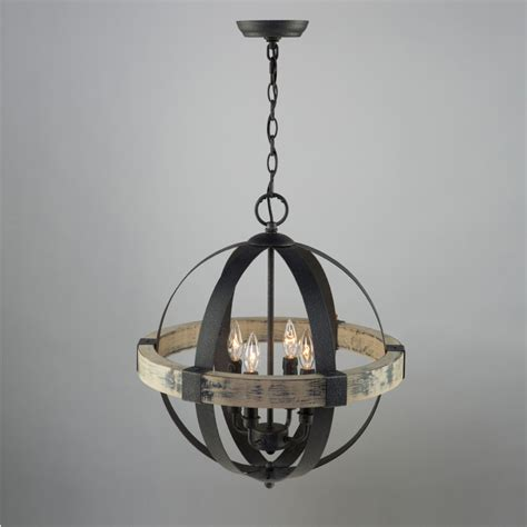 Lights And Chandeliers 4 Light Black Chandelier Artcraft Lighting