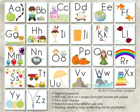 diy alphabet flash card template alphabet wall cards diy printable for preschool early