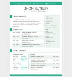 28 free cv resume templates html psd indesign web