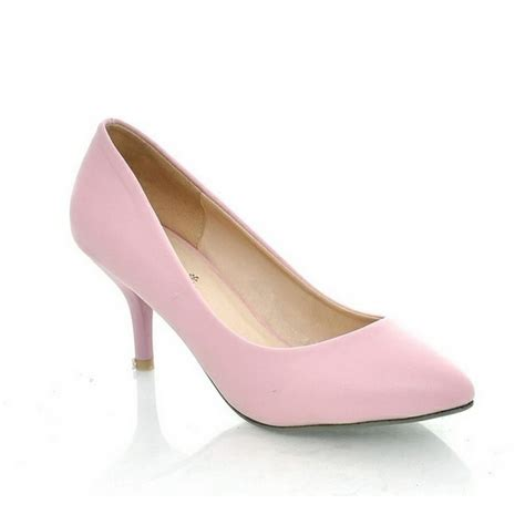 pointed toe mid high heels womens court shoes