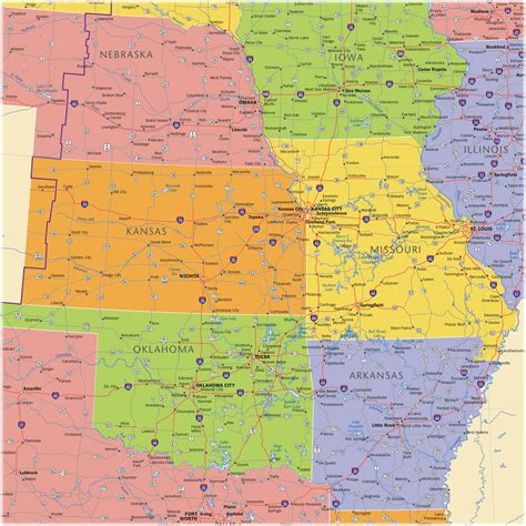 map usa midwest midwest wall map maps