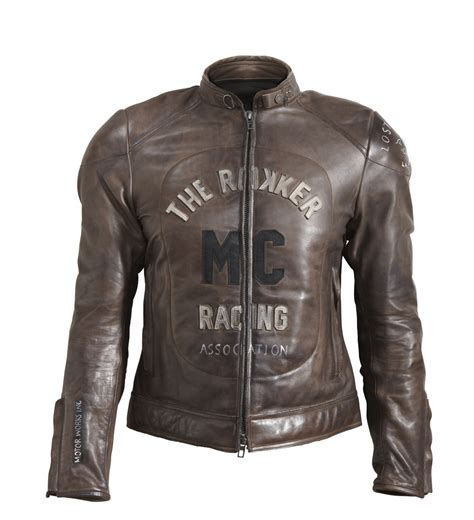 mc leather jacket rokker jacket mc leather jacket brown 24helmets