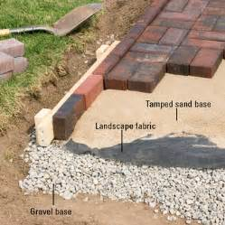 how to install brick patio installing edging patio wall installation tips