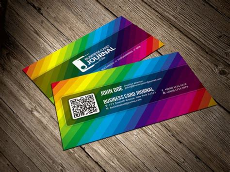 rainbow business card template color rainbow business card template psd file free