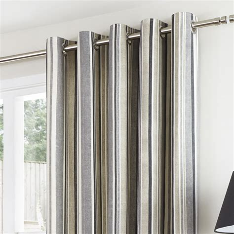 charcoal drapes melrose stripe charcoal eyelet curtains eyelet curtains