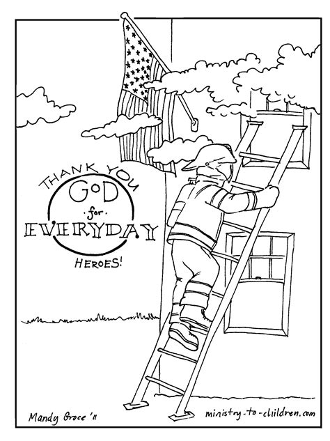 Coloring Page For 9 11 by 9 11 Heroes Coloring Pages Page Image Clipart Images