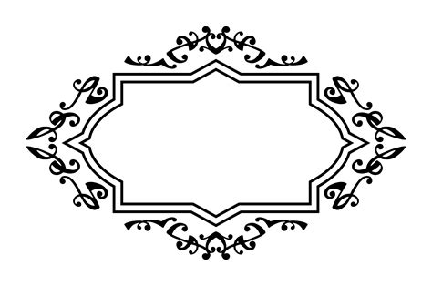 decorative borders for name tags clipart a decorative label