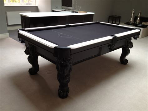 olhausen st george pool table in black white finish