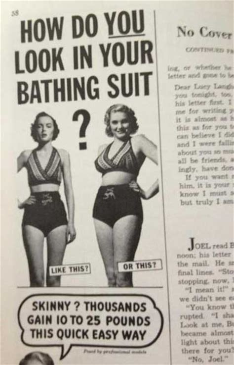 Magazine Gain Weight by In 1950s Actually Wanted To Gain Weight Fashion