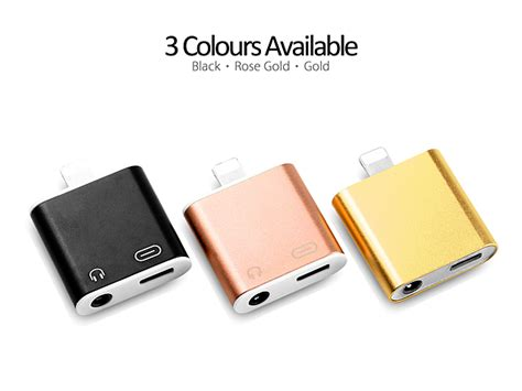 lightning to 3 5mm audio charger adapter for iphone 7 7 plus