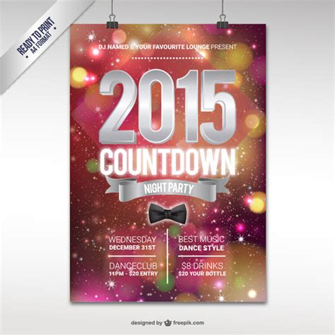 poster for new year 2015 cmyk 2015 new year poster vector free
