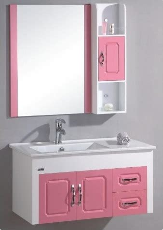 Pink Bathroom Vanity China Pink And White Color Pvc Bathroom Vanity Bl 8129 China Bathroom Cabinet Bathroom Vanity