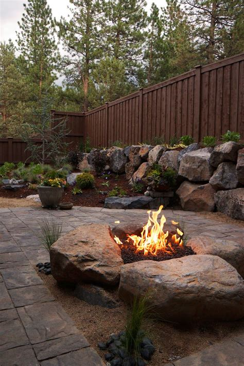 nh landscape fire pit 25 best ideas about boulder landscape on rockery stones country landscaping and