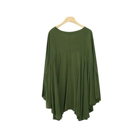 Batwing Sleeve V Neck Top te6483yzs new style batwing sleeve a line v neck large