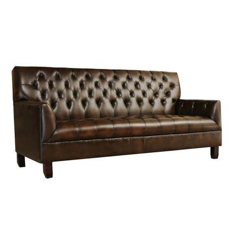 abbyson leather sofa abbyson living revello leather sofa in brown vs 195 brn 3