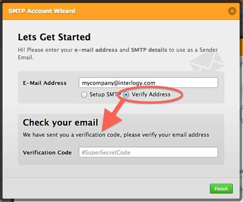 verification code where to insert the verification code for custom sender